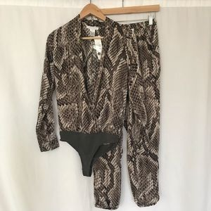 Pants - Snake skin jumpsuit